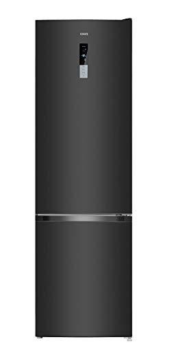 CHiQ Réfrigérateur congélateur bas FBM351NEI42 351L (257 + 94) Froid ventilé, No Frost, Acier inoxydable, portes réversibles, A++, 39 db, 12 ans de garantie sur le compresseur