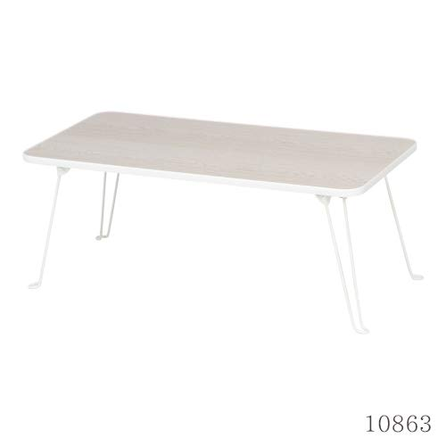 ローテーブル 折りたたみ 80×40cm ホワイト