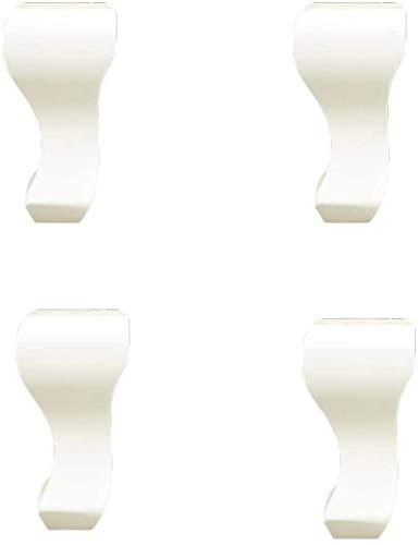 ZJDU Ruedas para muebles, patas de madera maciza, patas de sofá de madera natural, negro, para armarios, sillas, sofás, mesas, patas de cocina, 4 piezas (15 cm, negro) (color: blanco, tamaño: 20 cm)