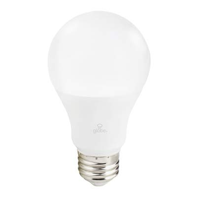 Globe Electric Wi-Fi Smart 10 Watt (60W Equivalent) Multicolor Changing RGB Tunable White Frosted LED Light Bulb, No Hub Required, Voice Activated, 2000K - 5000K, A19 Shape, E26 Base,34212