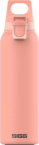 SIGG Hot & Cold ONE Light Shy Pink Botella térmica (0.55 L), termo hermético sin sustancias nocivas, cantimplora térmica de acero inoxidable 18/8 para uso con una mano