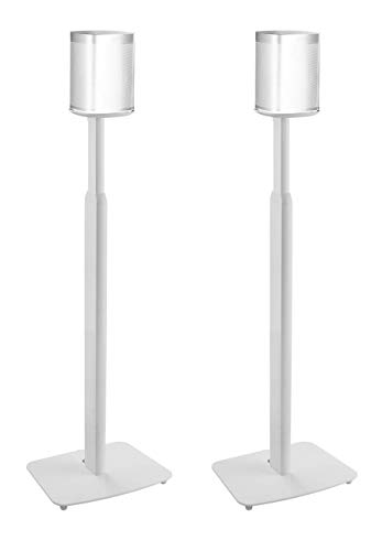 ynVISION Height Adjustable Floor Stands for Sonos One, One SL, Play:1 | 2 Pack | (White)