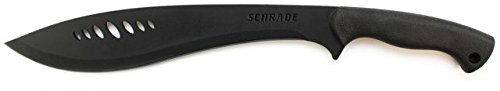 Schrade SCHKM1 19.7in Kukri Machete with 13.3in Stainless Steel Blade and Safe-T-Grip Handle for Outdoor Survival, Camping and Bushcraft