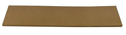 Lederabziehriemen NATUR, unbehandelt, Abziehleder 20cm x 5cm