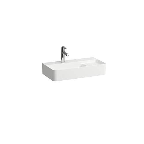 Laufen VAL Aufsatz-Waschtisch COMPACT, 1 Hahnloch, mit Überlauf, 600x315, weiß, semi-trockener Bereich rechts, US geschl, Farbe: Weiss matt - H8172857571041