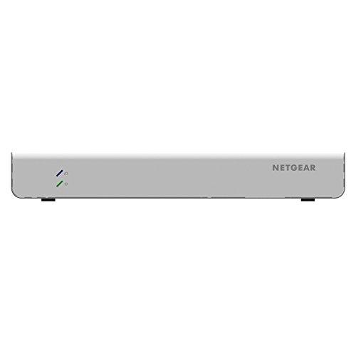 Netgear GC510PP-100EUS 10 Port (8 Port Gigabit Ethernet 195 Watt High-Power PoE+ Insight App Managed Smart Cloud Switch mit 2 x SFP Fiber Ports und mit Wand-/Rack-festigungskit) weiß