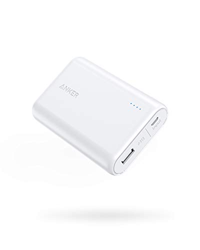 Anker PowerCore 10,000 (10,000 mAh, Small, Light Weight, Large Capacity Mobile Battery) iPhone&Android Compatible, whites