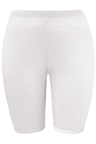 Damen Dehnbar Hot Pants Leggings Tanzende Radsporthose Shorts Übergröße - Creme - Sport Schwimmen Surfen, Übergröße 44/46