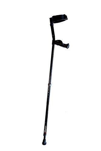 Millennial Medical MWD7500BK Tall In-Motion Forearm Crutch, Black