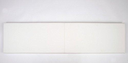 animal-design Wand-Kissen L Breite 115cm Kunstleder mit Montage-Set, Farbe:weiß