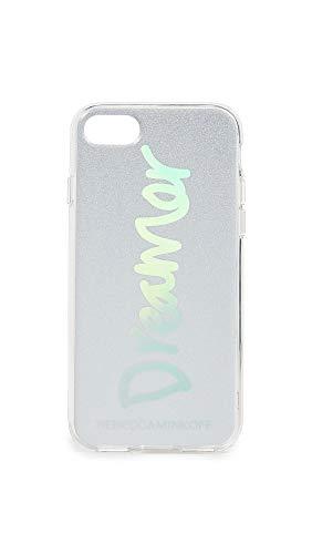 Rebecca Minkoff Be More Transparant Hoesje voor iPhone 7/8 - Dromer Zilver Glitter/Holografische folie