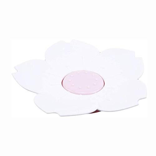 DJY-JY Flower Soap Box, Drenaje Flor Rosa Jabón Bandeja Antideslizante Soap Box Doble Drenaje Soap Box