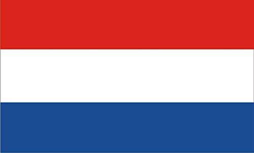KiipFlag niederländische Flagge - Nederlandse Vlag - Netherlands Flag mit Messingösen, lebendige Farben und UV-beständig, Leinwand-Header und doppelt genäht, 90 cm x 150 cm