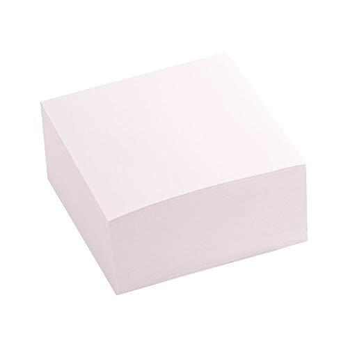 D.RECT Taco de notas | 85 x 85 mm, 350 hojas | no encolado | Blanco ⭐