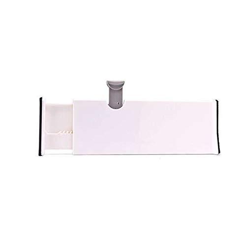MIGHTDUTY - Separadores para cajones, ajustables de 28 cm a 45 cm con bordes de espuma antiarañazos para dormitorio, baño, armario, oficina, cocina, vestidor, color blanco 1 Pack