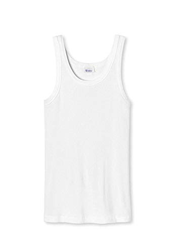 Schiesser Revival Heren Onderhemd, Tanktop Friedrich, Dubbele Rib - Wit L (groot)