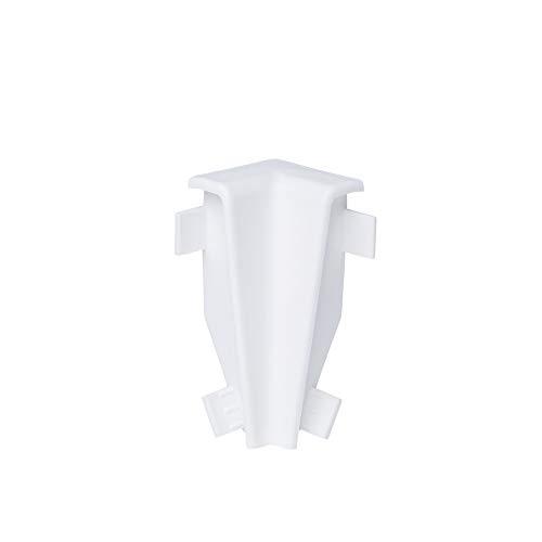 Innen- und Außenecken, Verbinder und Abschlüsse für Sockelleisten 60mm - Weiß Innenecke
