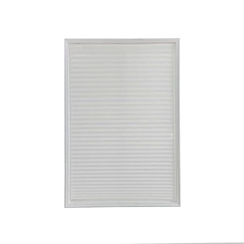 curtain 1pc Self-Adhesive Windows Blinds Half Blackout Curtains For Bathroom Balcony Shades For Living Room Window Home Door Decor Easy to install (Color : White, Size : 60x150cm)