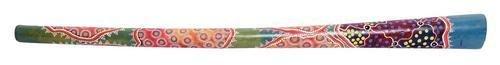 Kamballa didgeridoo Teak wood painted Length approx. 130 cm