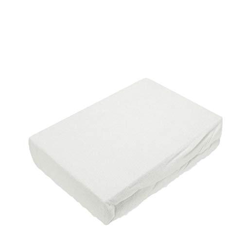 EXKLUSIV HEIMTEXTIL Frottee Spannbettlaken Premium Marke 90-100 x 200 cm Weiß