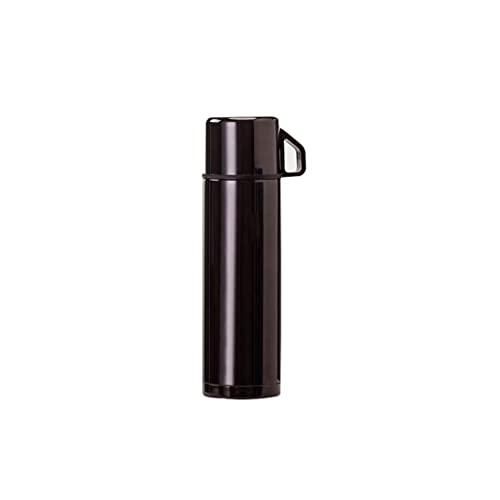 YDZ Borraccia ad alta capacità senza BPA riutilizzabile per palestra, sport all'aperto, bollitore in acciaio inox, da viaggio in auto, colore nero, 480 ml, 20/3/29 (colore: nero)