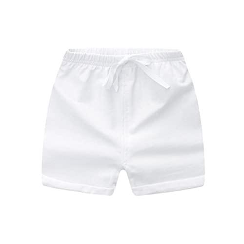 Pantaloni dei bambini delle ragazze dei ragazzi Shorts di cotone Estate Sport brevi per White Beach 110 centimetri