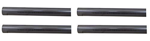 well2wellness® PVC Rohr 50mm PVC Druckrohr 50mm 10 bar - 4 x 1 Meter