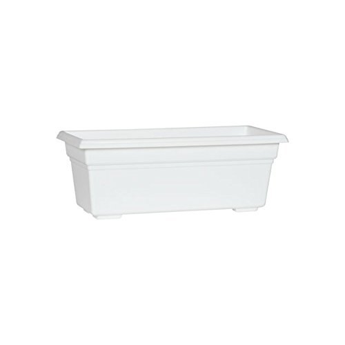 Countryside Flower Box Planter, White, 18-Inch