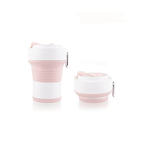 Taza plegable de viaje al aire libre, elegante taza de café retráctil, taza de lavado, taza de agua plegable, taza de viaje rosa