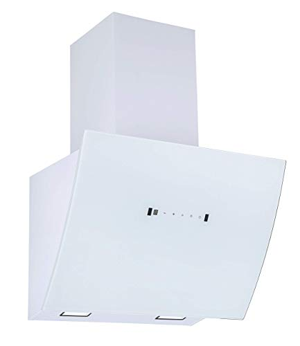 respekta Campana inclinada sin cabeza, 90 cm, color blanco, con apertura automática y control por gestos, CH99090WA, eficiencia energética: A