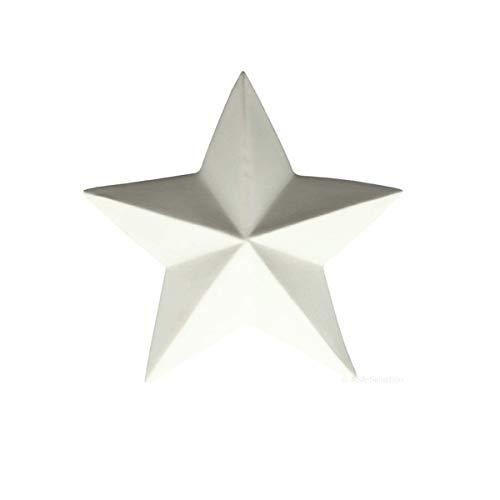 ASA Xmas Deko-Stern, weiß D. 13,5 cm, H. 4,3 cm