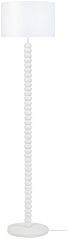 Tosel 51261lámpara de pie 1luz, madera, E27, 40W, Color blancoo, 35x 150cm