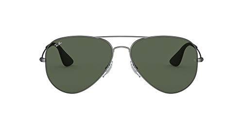Ray-Ban Unisex-Erwachsene 0RB3558 Sonnenbrille, Schwarz (Matte Black Antique), 58