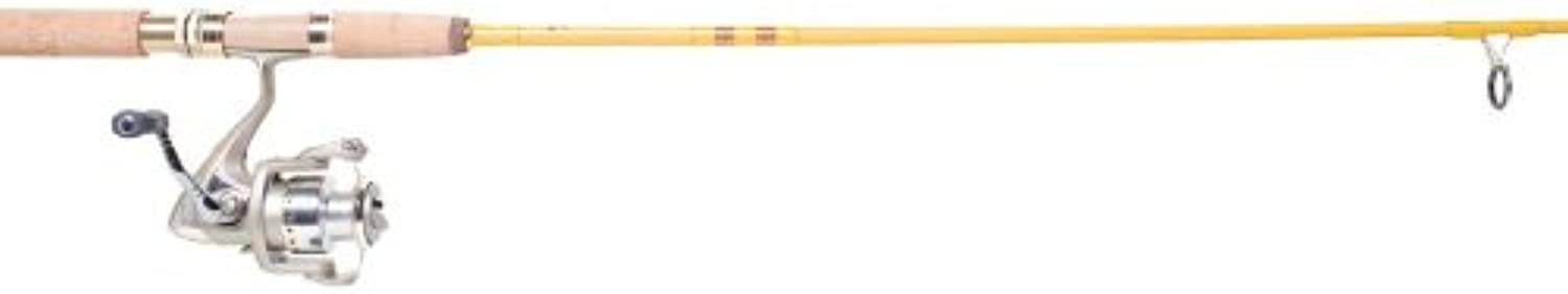 Eagle Claw Featherlight Combo with 6 Ball Bearing Spinning Reel, Yellow, 6Feet 6Inch