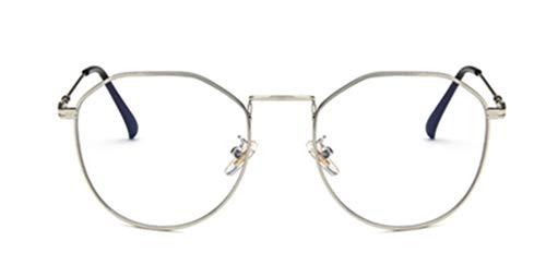 Tofox Moda Diseñador Retro Metal Redonda Cuadrado Anteojos Sin Receta Gafas Marco De Anteojos Grandes Hombre Mujer