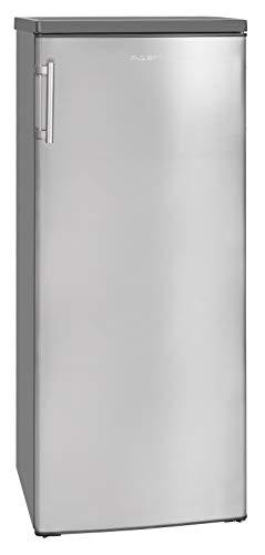 Exquisit Kühlschrank KS 325-4.3 A++ Inoxlook |Standgerät | 240 L Nutzinhalt | inox