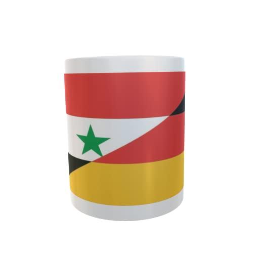 U24 Tasse Kaffeebecher Mug Cup Flagge Syrien-Deutschland
