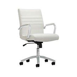 Realspace Winsley Mid-Back Chair, White