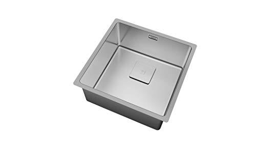 Teka 115000014 – Fregadero de cocina de acero inoxidable con un solo tazón FLEXLINEA RS15 40.40 3½ SQ W/OVF SP-115000014…