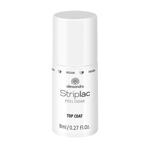 alessandro Striplac Peel or Soak -VEGAN- Top Coat – LED-Überlack für eine perfekt glänzende Farblackierung - Für perfekte Nägel in 15 Minuten, 8ml