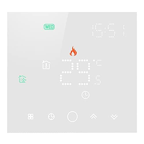Andifany Termostato Tuya Life Wifi para Controlador de Temperatura del Hogar de CalefaccióN EléCtrica/de Agua para el Hogar Funciona con Alexa Home