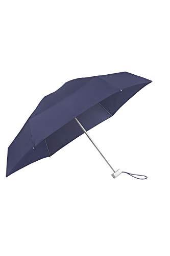 SAMSONITE Alu Drop S - 5 Section Manual Supermini Flat Folding Umbrella, 17.5 cm, Blue (Indigo Blue)