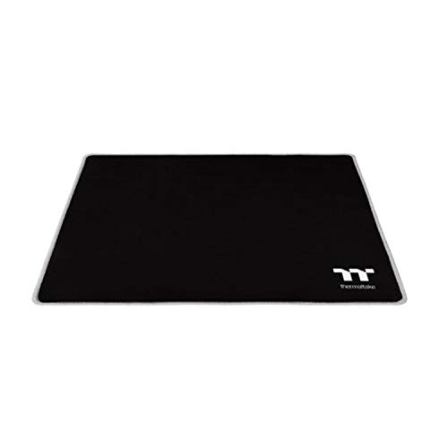 Thermaltake M500 Smooth Surface/Solid Sewing Edge/Splash-Proof/Anti-Slip Rubber Base 450mm x 400mm Gaming Mouse Pad GMP-TTP-BLKSLS-01, Medium