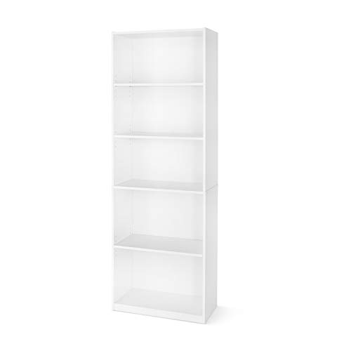 Mainstay` 71' 5-Shelf Standard Bookcase (A White, 71')