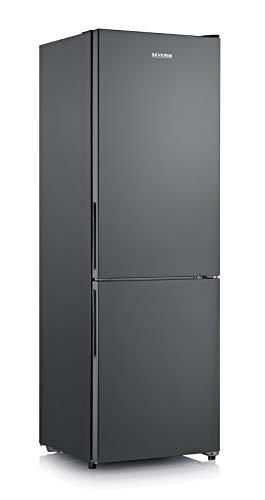 SEVERIN Kühl-/Gefrierkombination, 223 L/94 L, Energieeffizienzklasse A++, KGK 8938, dark inox
