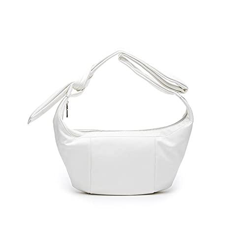 LCIUPSCO Borsa messenger in pelle PU, borsa a tracolla da donna, borsa a tracolla in morbida pelle nera casual, bianco, 26*16*16cm, Organizer borsa