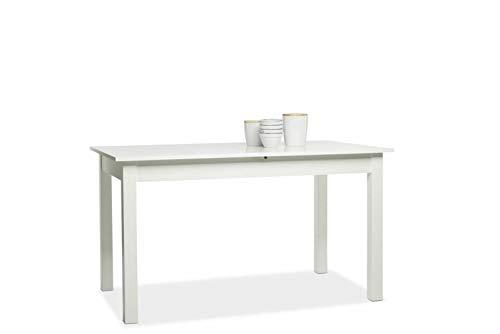 Eternity-Moebel24 Esstisch Esszimmertisch - Napoli - Auszugstisch 140-180 x 77 x 80 cm Weiß