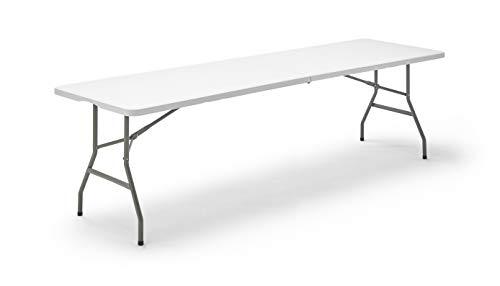 KG KITGARDEN - Mesa Plegable Multifuncional, 240x74x74cm, Blanco, Folding 240