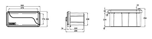 25l Unterbaubox oder Deichselbox für PKW Anhänger, Pritschenfahrzeuge, LKW Anhänger, Staubox, Werkzeugkiste, Gurtkiste - 4