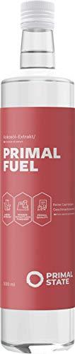 C8 MCT Öl aus reiner Caprylsäure in 500ml Glasflasche, Primal Fuel für Bulletproof Coffee